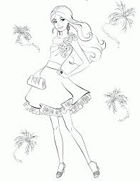 barbie coloring pages fashion coloring