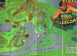Map Of Wisconsin Dells by Big Chief Karts And Coasters Coaster101