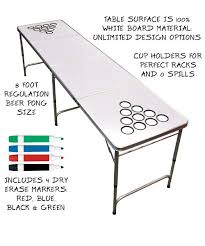 8 Ft Table Dimensions by Gopong Dry Erase Beer Pong Table U2013 8 Foot Long