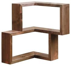 Walnut Corner Bookcase Modern Corner Shelves Corner Shelf Walnut Walnut Modern Display