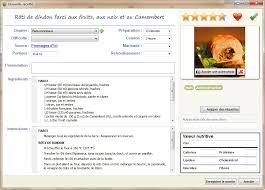 recette de cuisine professionnel le collectionneur de recettes logiciel de recettes et créateur