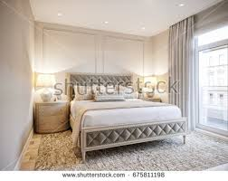 Modern And Classic Interior Design Luxury Bedroom Interior Design Classic Style Stock Illustration