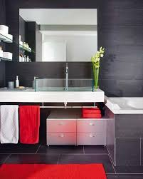 bathroom modern small bathroom with black wall accent come with