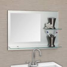 Bathroom With Shelves by Mirrors Kuyaroom Com Modern Bathroom With Lights Small Design