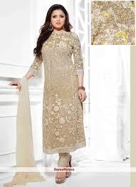 bige color buy blooming beige color drashti dhami designer churidar suit online