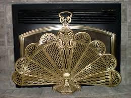 fireplace firescreen doors peacock fireplace screen bronze