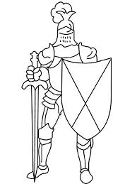 dessins à colorier chevalier coloriages pour enfants
