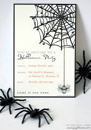 Halloween Party Poem Printable Halloween Birthday Invitations Festival Collections
