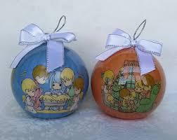vintage precious moments christmas ornaments bell and precious