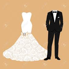 groom to wedding card wedding card with the clothes of the and groom beautiful