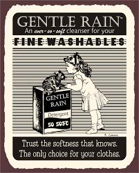 Retro Laundry Room Decor by Gentle Rain Detergent Vintage Metal Laundry Cleaning Retro Tin