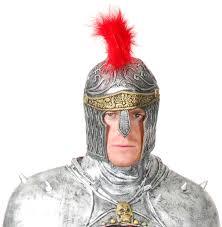 silver warrior helmet costume craze