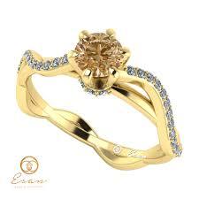 inel de logodna cu diamant inel de logodna cu diamant maro si diamante incolore es86 esan