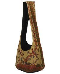 tree of india folk messenger bag in beige handmade