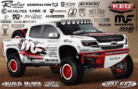 prerunner truck suspension chevy colorado customized by keg media u0026 magnaflow medium duty