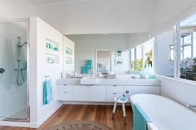 coastal bathrooms ideas pleasant coastal bathroom cream ceramic floor tile elevated toilet