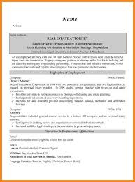 Bar Resume Examples by Real Estate Resumes Real Estate Attorney Resume Example Estate
