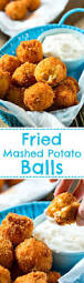 thanksgiving mashed potatos fried mashed potato balls spicy southern kitchen