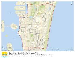 Map Of South Beach Miami by Department Of Health Daily Zika Update Florida Department Of Health