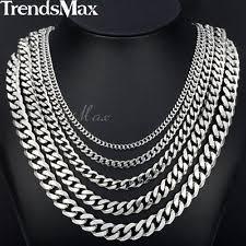 necklace chains silver images Men 39 s chains necklaces pendants ebay jpg