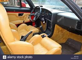 classic alfa romeo alfa romeo zagato sz classic italian sports car interior stock