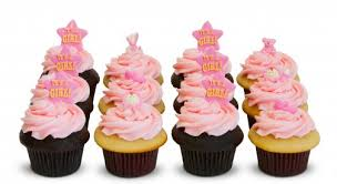 cupcakes for baby shower girl baby shower girl dozen trophy cupcakes party