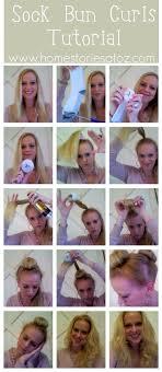 sock hair bun sock bun curls tutorial home stories a to z