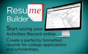 create resume for college applications all in one academics résumé builder