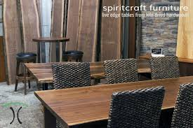 Round Restaurant Tables Live Edge Table And Furniture Showroom In The Chicago Area