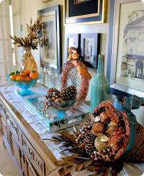 blue and orange decor blue fall decorating