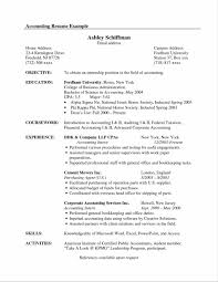 Sample Resume Of Cpa by Resume Objective Examples General Accountant Bongdaao Com