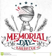 Memorial Invitation Cards Memorial Day Greeting Card Barbecue Invitation Stock Vector