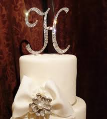 wedding cake toppers initials wedding cake topper monogram initials wedding corners