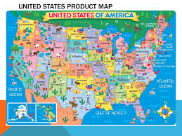 Pics Of Maps Of The United States by Large Detailed Product Map Of The United States Usa United