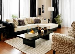 decorating elegant living room design with ethanol fireplace on