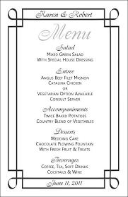wedding drink menu template wedding menu template 3 event decoration inspiration