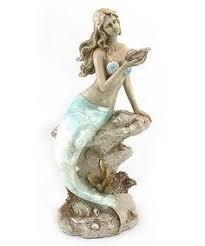 Mermaid Garden Decor Concrete Mermaid Statue Outdoor Mermaid Garden Decor Little