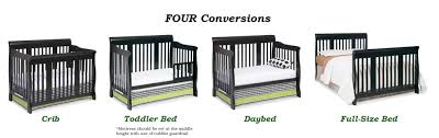 Convertible Crib Full Size Bed by Amazon Com Stork Craft Tuscany 4 In 1 Convertible Crib Black