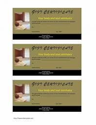 valentine massage gift certificate template non tree surgeonnvoice