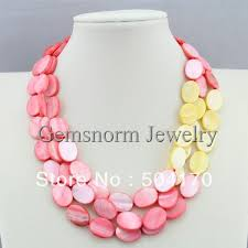 shell pearl necklace wholesale images Stunning handmade freshwater pearls mother of pearl necklace jpg