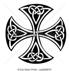 an illustration of a celtic cross with a beautiful design vector