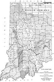 Michigan Indian Tribes Map by Lincoln Boyhood National Memorial Historic Resource Study Table