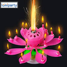 birthday candle lumiparty lotus candle musical flower candles led tea light lotus