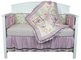 Dragonfly Dreams Crib Bedding Bedroom Cool Gray And Purple Crib Bedding Set With Traditional