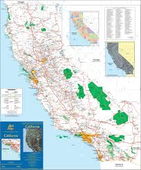 California Zip Code Map by Map Of California Towns California Map