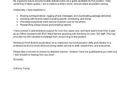 sample email cover letter for administrative assistant coveroffice