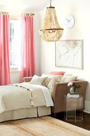 pink and pastel color short length bedroom curtains