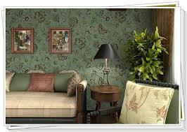 style vintage pas cher pas cher pvc pays style vintage vert foncé fond fleur de mur papier