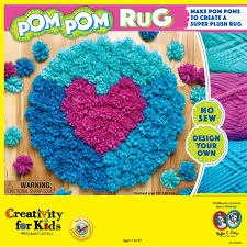 find the creativity for kids pom pom rug activity kit at michaels