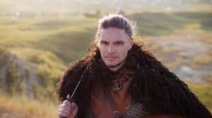 viking warrior hair portrait of medieval male viking warrior stock video